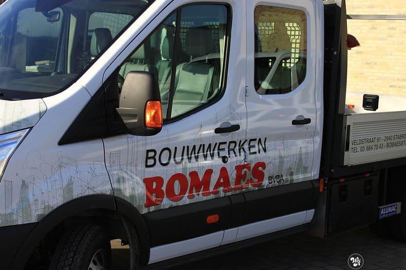 Ford Transit bedrijfswagens voor Bomaes, Carwrapping door Wrapmyride.nu Foto-nr:8673, ©2017