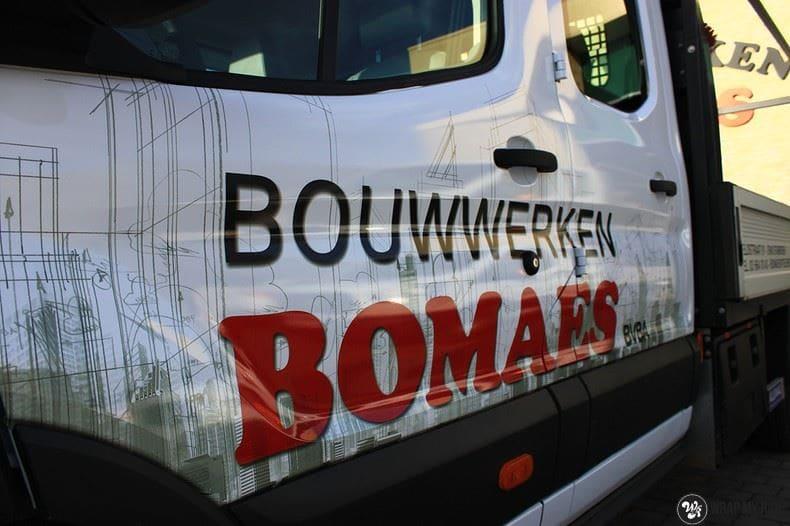 Ford Transit bedrijfswagens voor Bomaes, Carwrapping door Wrapmyride.nu Foto-nr:8670, ©2017