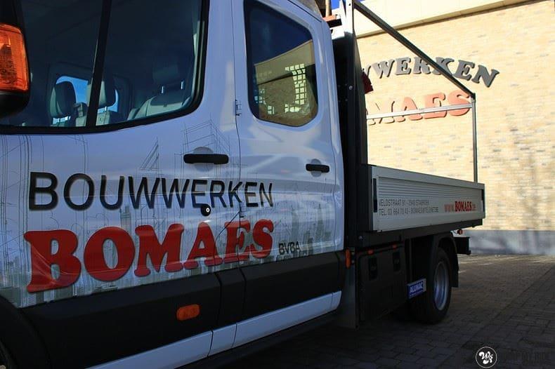 Ford Transit bedrijfswagens voor Bomaes, Carwrapping door Wrapmyride.nu Foto-nr:8669, ©2017