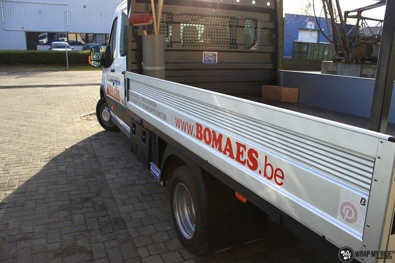Ford Transit bedrijfswagens voor Bomaes, Carwrapping door Wrapmyride.nu Foto-nr:8667, ©2017