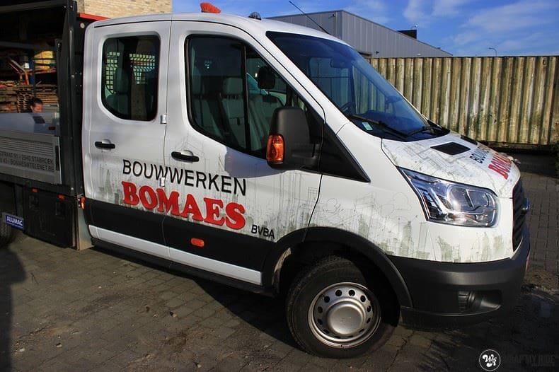 Ford Transit bedrijfswagens voor Bomaes, Carwrapping door Wrapmyride.nu Foto-nr:8665, ©2017