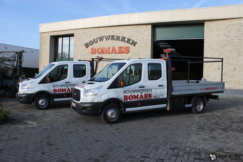 Ford Transit bedrijfswagens voor Bomaes, Carwrapping door Wrapmyride.nu Foto-nr:8664, ©2017