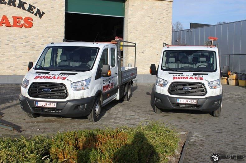 Ford Transit bedrijfswagens voor Bomaes, Carwrapping door Wrapmyride.nu Foto-nr:8662, ©2017