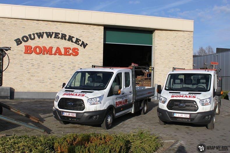 Ford Transit bedrijfswagens voor Bomaes, Carwrapping door Wrapmyride.nu Foto-nr:8660, ©2017
