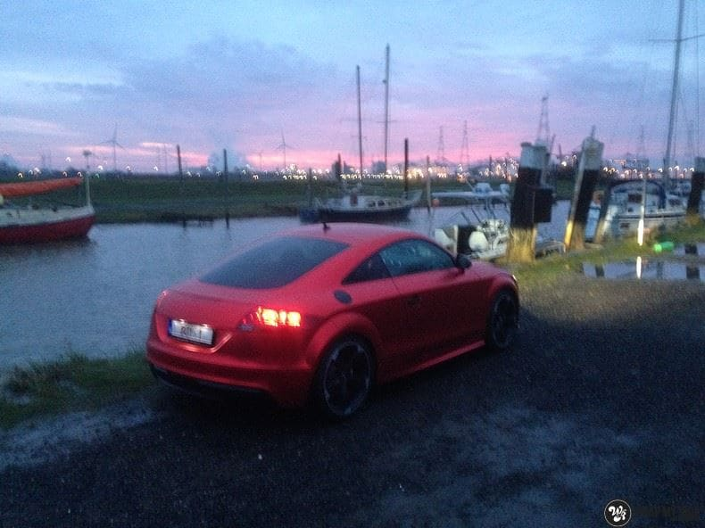 Audi TTS matte red chrome, Carwrapping door Wrapmyride.nu Foto-nr:8875, ©2017