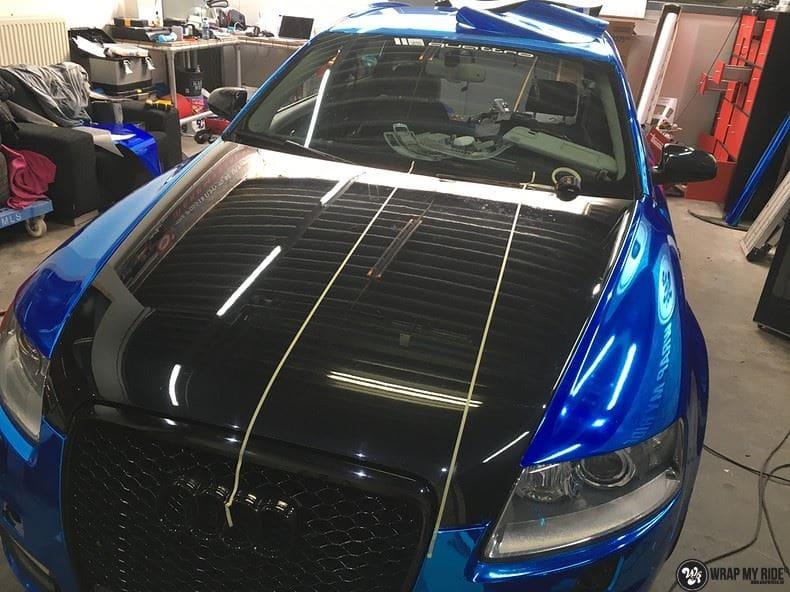 Audi A6 Bleu Chrome, Carwrapping door Wrapmyride.nu Foto-nr:9752, ©2017