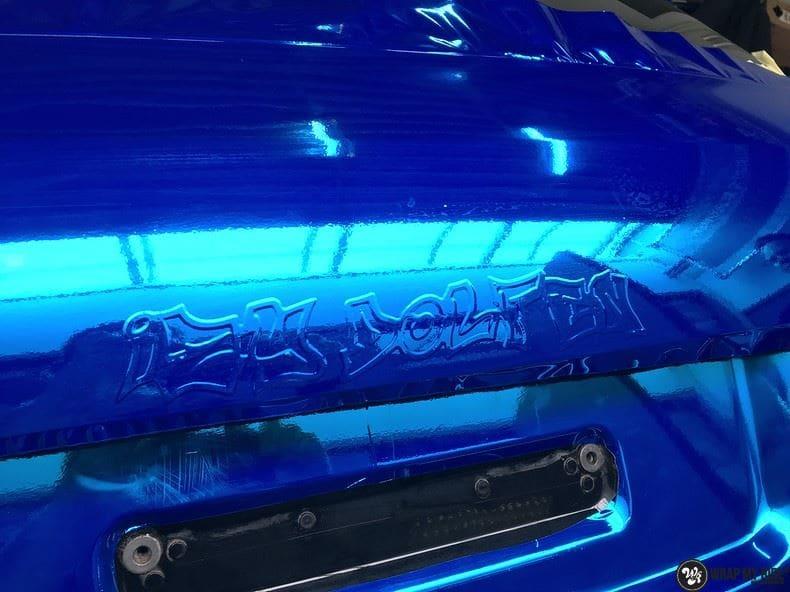 Audi A6 Bleu Chrome, Carwrapping door Wrapmyride.nu Foto-nr:9754, ©2017