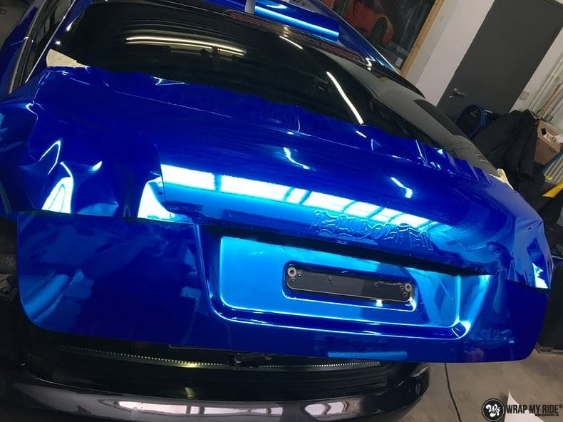 Audi A6 Bleu Chrome, Carwrapping door Wrapmyride.nu Foto-nr:9755, ©2017