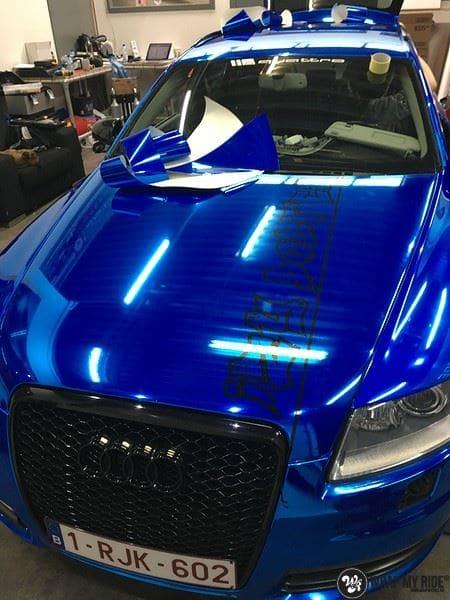 Audi A6 Bleu Chrome, Carwrapping door Wrapmyride.nu Foto-nr:9756, ©2017