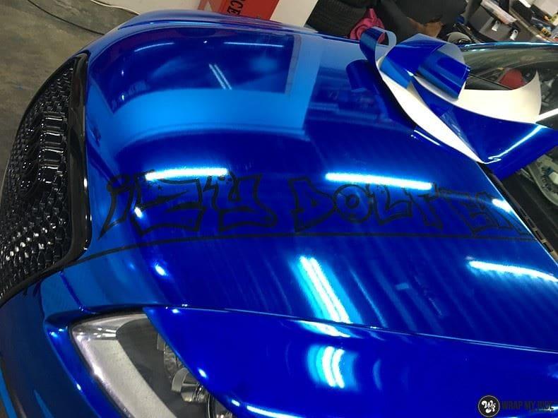 Audi A6 Bleu Chrome, Carwrapping door Wrapmyride.nu Foto-nr:9757, ©2017