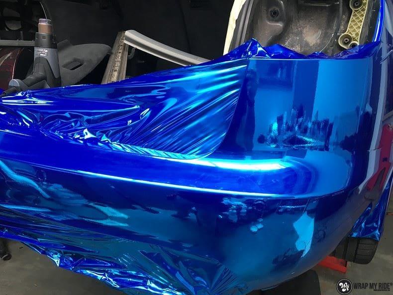 Audi A6 Bleu Chrome, Carwrapping door Wrapmyride.nu Foto-nr:9759, ©2017