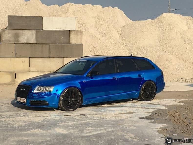 Audi A6 Bleu Chrome, Carwrapping door Wrapmyride.nu Foto-nr:9762, ©2017