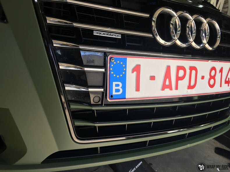Audi A7 matte military green, Carwrapping door Wrapmyride.nu Foto-nr:9976, ©2017