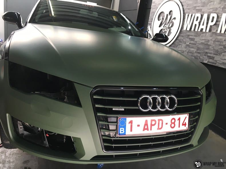 Audi A7 matte military green, Carwrapping door Wrapmyride.nu Foto-nr:9978, ©2017