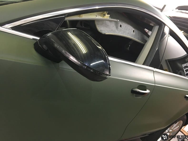 Audi A7 matte military green, Carwrapping door Wrapmyride.nu Foto-nr:9986, ©2017