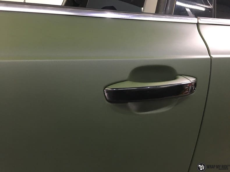Audi A7 matte military green, Carwrapping door Wrapmyride.nu Foto-nr:9987, ©2017
