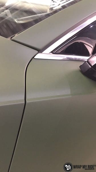 Audi A7 matte military green, Carwrapping door Wrapmyride.nu Foto-nr:9989, ©2017