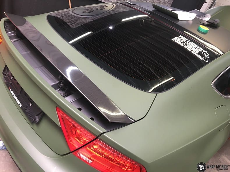 Audi A7 matte military green, Carwrapping door Wrapmyride.nu Foto-nr:9993, ©2017