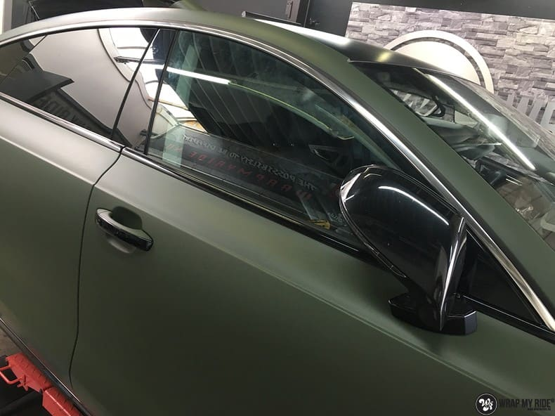 Audi A7 matte military green, Carwrapping door Wrapmyride.nu Foto-nr:9998, ©2017