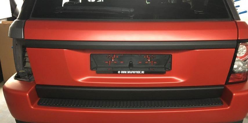 Range Rover Sport in Smoldering Satin Red