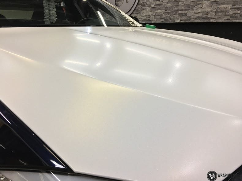 BMW F10 Satin frozen vanilla, Carwrapping door Wrapmyride.nu Foto-nr:9475, ©2017