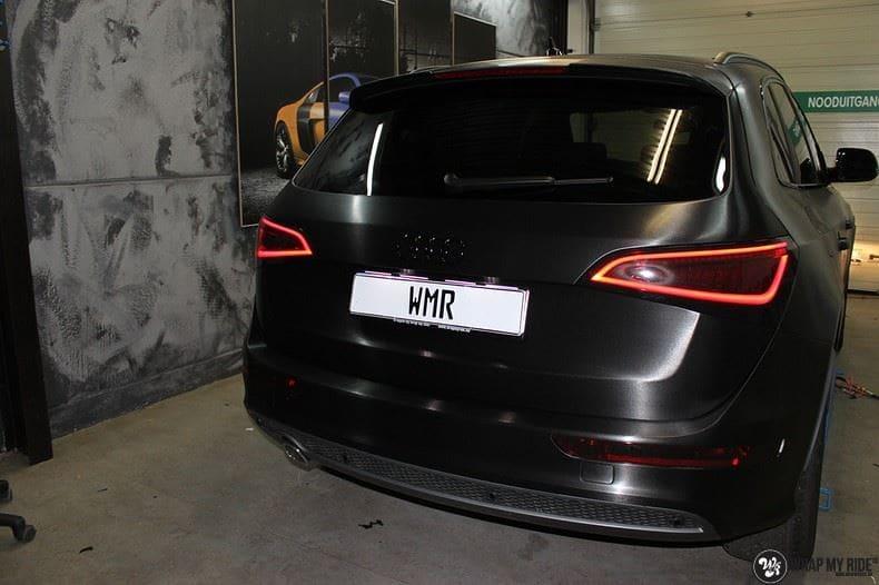 Audi Q5 Brushed black, Carwrapping door Wrapmyride.nu Foto-nr:8389, ©2017