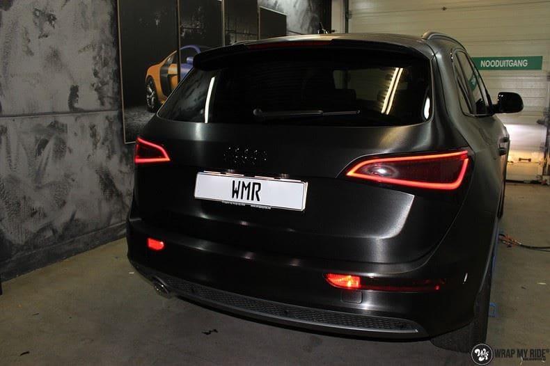 Audi Q5 Brushed black, Carwrapping door Wrapmyride.nu Foto-nr:8390, ©2017