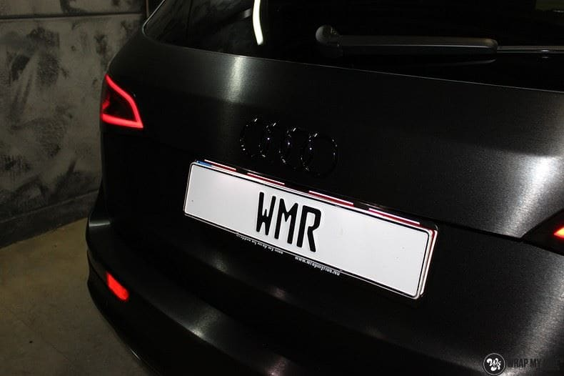 Audi Q5 Brushed black, Carwrapping door Wrapmyride.nu Foto-nr:8395, ©2017