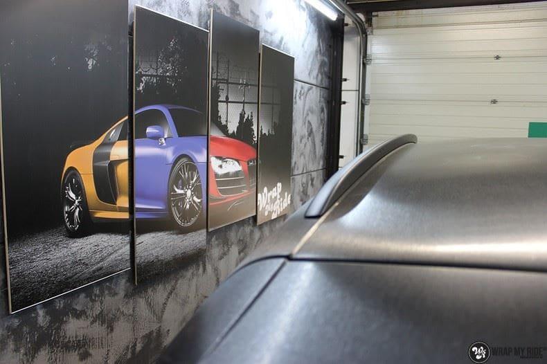 Audi Q5 Brushed black, Carwrapping door Wrapmyride.nu Foto-nr:8397, ©2017