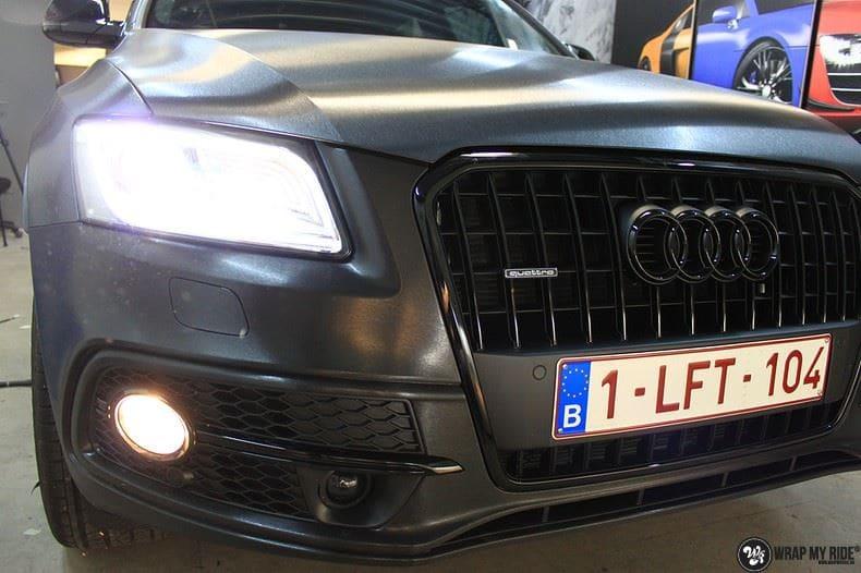 Audi Q5 Brushed black, Carwrapping door Wrapmyride.nu Foto-nr:8412, ©2017