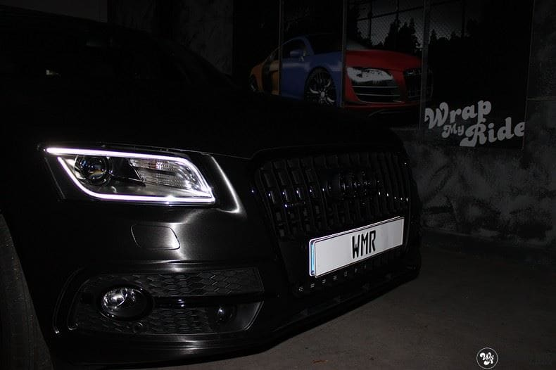 Audi Q5 Brushed black, Carwrapping door Wrapmyride.nu Foto-nr:8415, ©2017