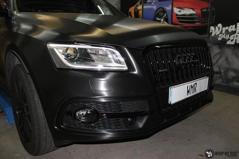 Audi Q5 Brushed black, Carwrapping door Wrapmyride.nu Foto-nr:8416, ©2017