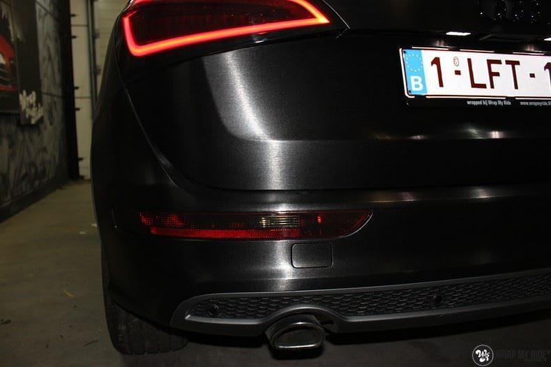 Audi Q5 Brushed black, Carwrapping door Wrapmyride.nu Foto-nr:8422, ©2017