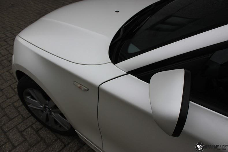 BMW 1-serie 3M Satin Pearl White, Carwrapping door Wrapmyride.nu Foto-nr:9049, ©2017