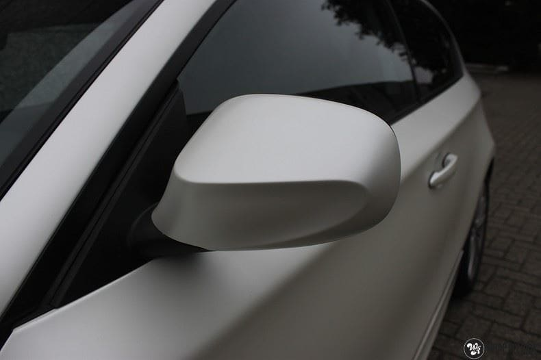 BMW 1-serie 3M Satin Pearl White, Carwrapping door Wrapmyride.nu Foto-nr:9043, ©2017