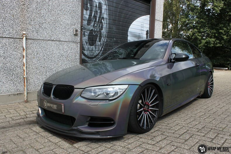 BMW E92 Coupe 3M gloss flip Psycedelic, Carwrapping door Wrapmyride.nu Foto-nr:10248, ©2018