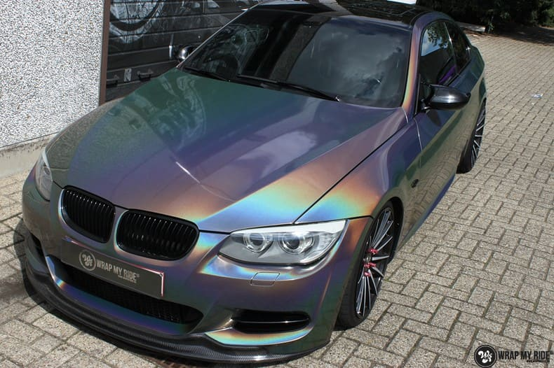 BMW E92 Coupe 3M gloss flip Psycedelic, Carwrapping door Wrapmyride.nu Foto-nr:10245, ©2018