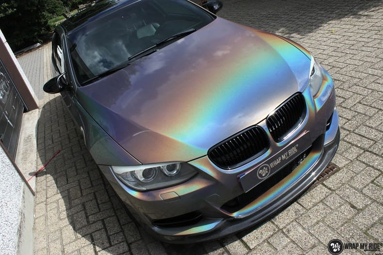 BMW E92 Coupe 3M gloss flip Psycedelic, Carwrapping door Wrapmyride.nu Foto-nr:10243, ©2018