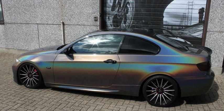 BMW E92 Coupe 3M gloss flip Psycedelic