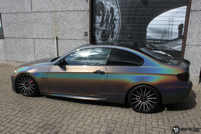 BMW E92 Coupe 3M gloss flip Psycedelic, Carwrapping door Wrapmyride.nu Foto-nr:10240, ©2018