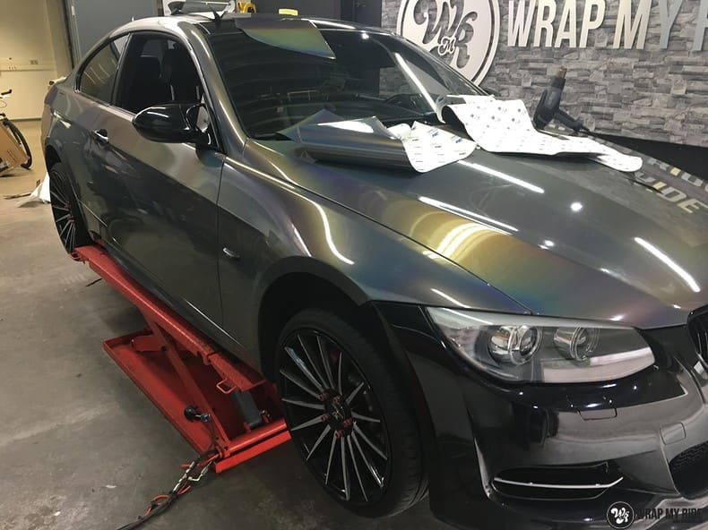 BMW E92 Coupe 3M gloss flip Psycedelic, Carwrapping door Wrapmyride.nu Foto-nr:10263, ©2018