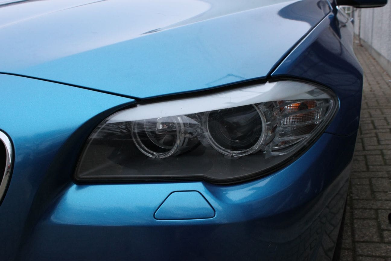 BMW F10 gloss bleu metallic, Carwrapping door Wrapmyride.nu Foto-nr:9500, ©2018
