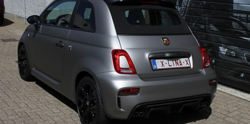 Fiat 595 Abart naar matte grey Aluminium