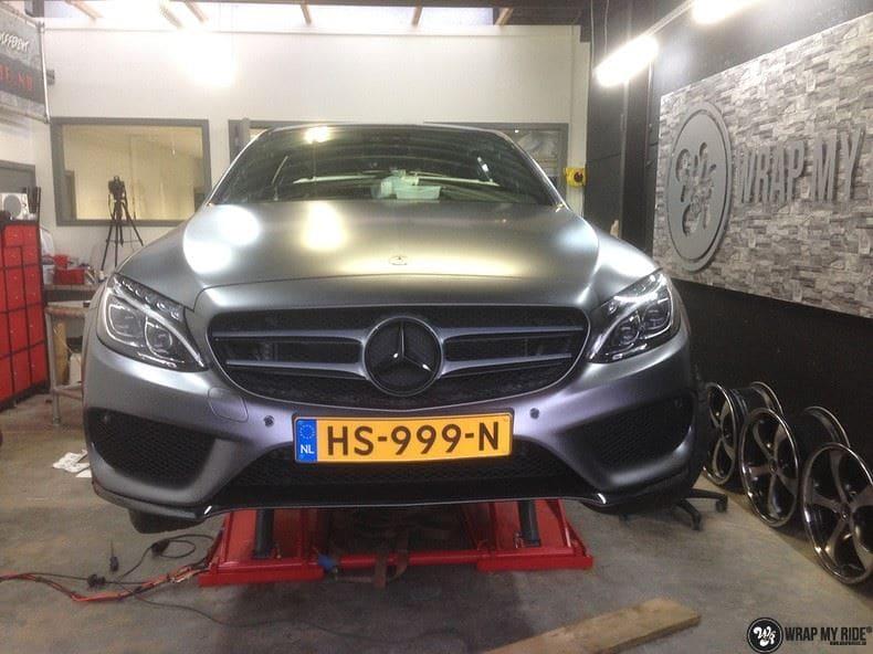 Mercedes C350e AMG, Carwrapping door Wrapmyride.nu Foto-nr:8643, ©2017