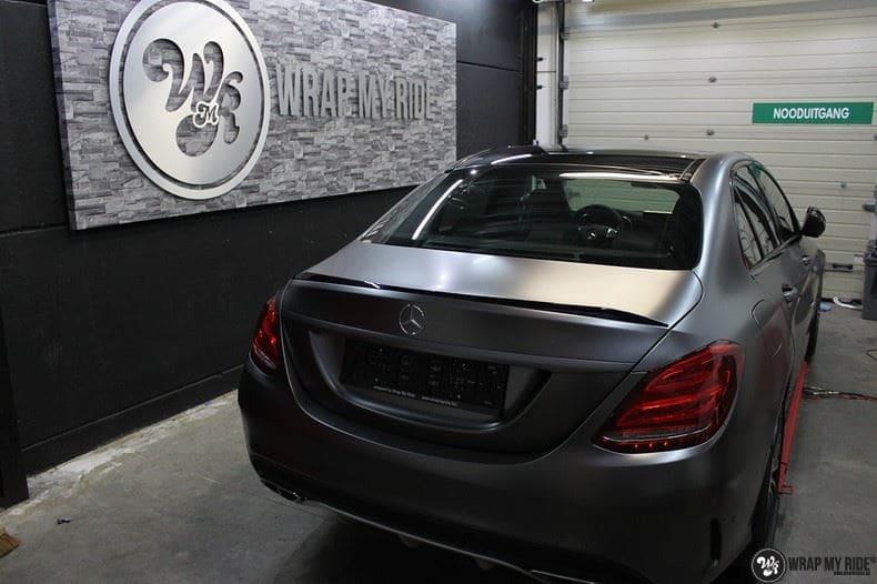 Mercedes C43 AMG, Carwrapping door Wrapmyride.nu Foto-nr:9644, ©2018