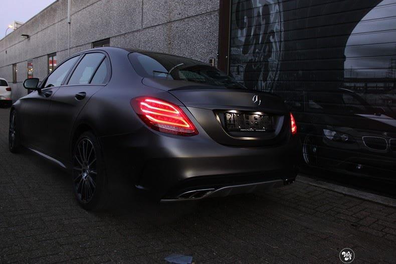 Mercedes C43 AMG, Carwrapping door Wrapmyride.nu Foto-nr:9648, ©2018