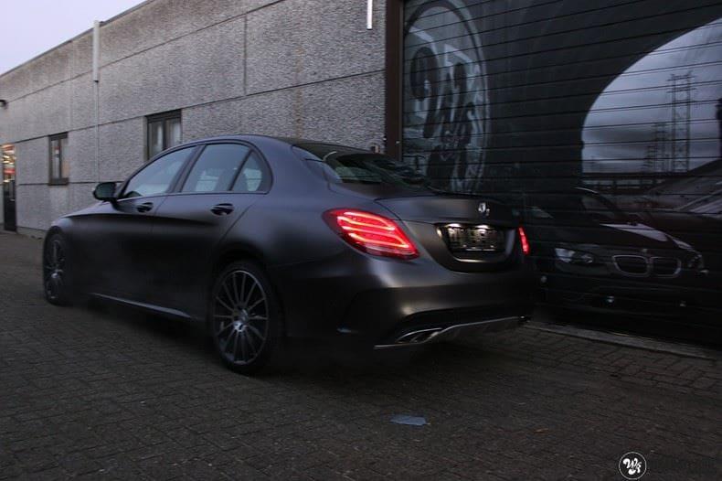 Mercedes C43 AMG, Carwrapping door Wrapmyride.nu Foto-nr:9649, ©2018