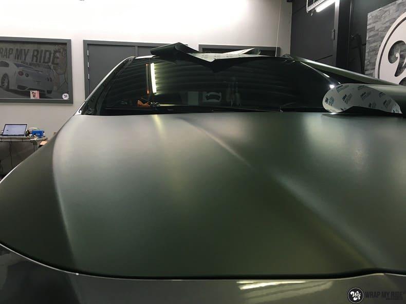 Mercedes CLA custom Camo wrap, Carwrapping door Wrapmyride.nu Foto-nr:10046, ©2017