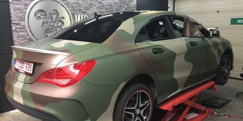 Mercedes CLA custom Camo wrap