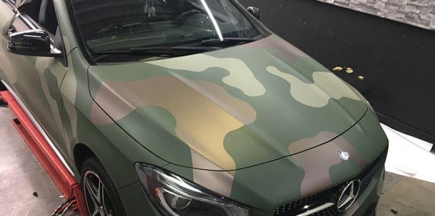 Mercedes CLA custom Camo wrap